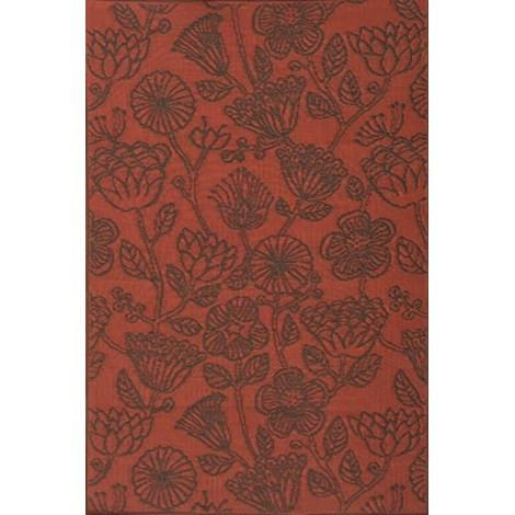 Mad Mats Outdoor Carpet Line Flower - Dark Sienna