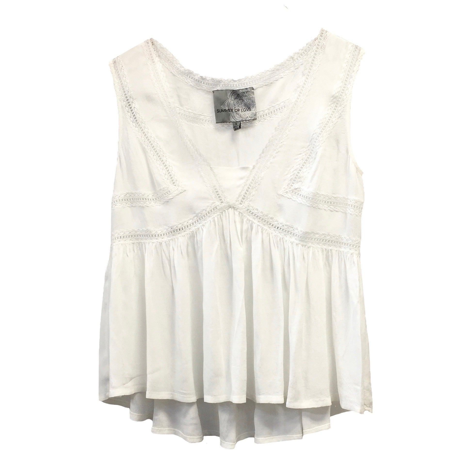"Summer of Love ""Luka"" Off White Sleeveless Top"