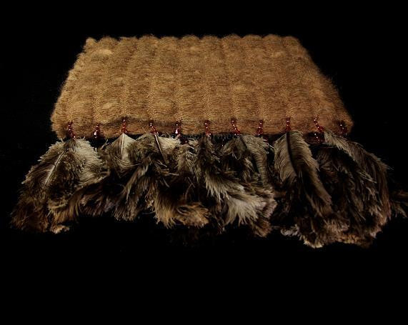 Ostrich Feather Throw-Soft Furnishings-South Africa-Brown-Putti Fine Furnishings