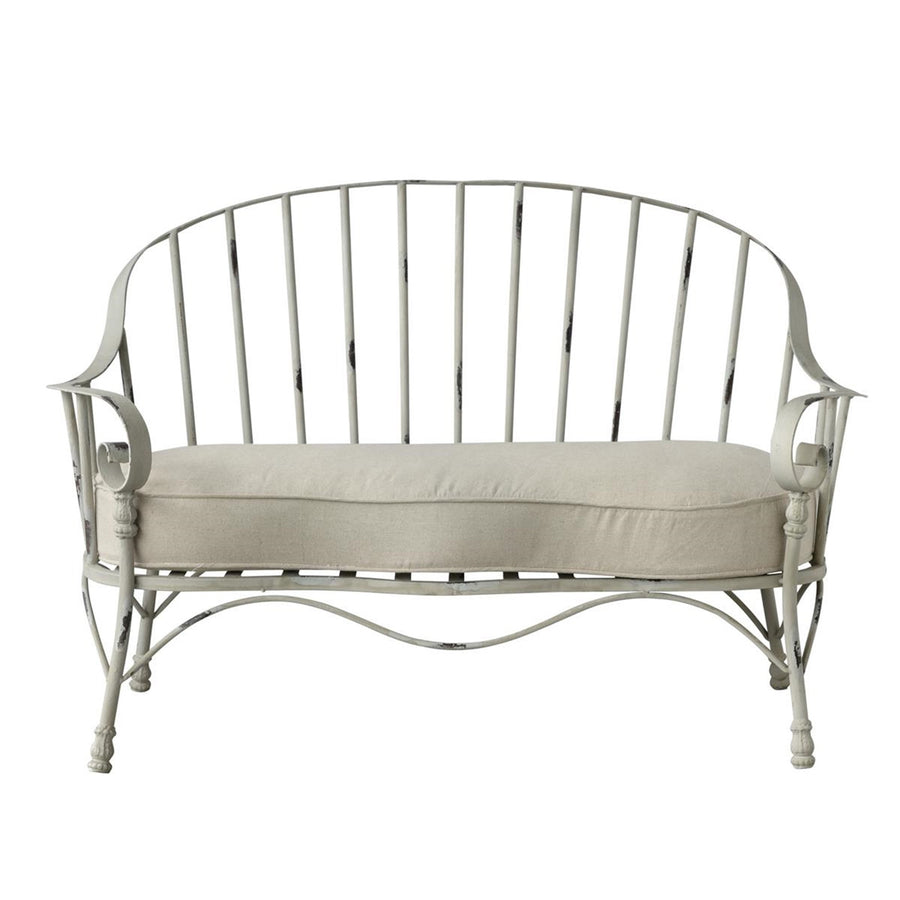 """Esther"" Metal Double Bench"