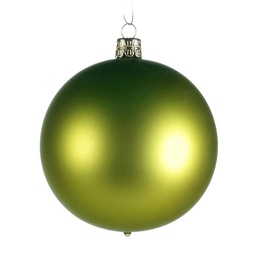 Apple Green Satin Glass Ornament