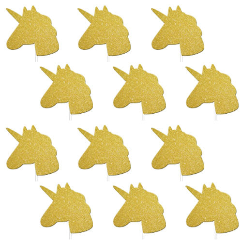 Gold Glitter Unicorn Cake Toppers, BM-Balloon Market, Putti Fine Furnishings