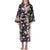 Mahogany Bridgette Black Floral Cotton Robe | Putti Fine Fashions