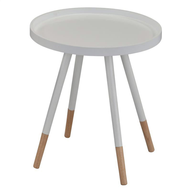 "Mid Century ""Hue"" Accent Table - White, WHF-Worldwide Home Furnishings Inc., Putti Fine Furnishings"