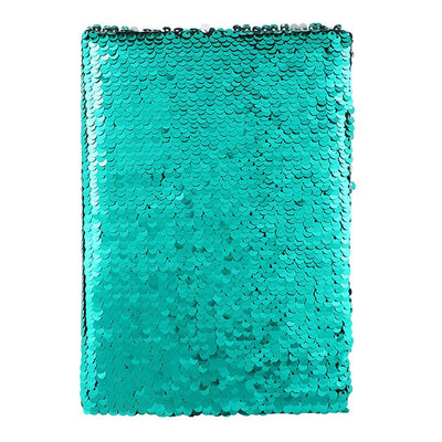 Silver and Aqua Green Reversible Sequin Note Book, SD-Something Different, Putti Fine Furnishings