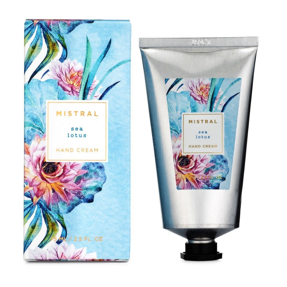 Mistral Floral Collection Hand Cream - Sea Lotus - Putti Fine Furnishings