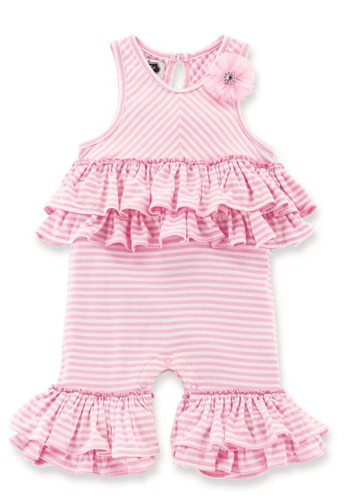 Mud Pie Pink Striped Flared Pant and Tunic-Children's Clothing-MP-Mud Pie-Putti Fine Furnishings