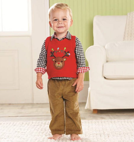 Christmas Vest Set-Children's Clothing-MP-Mud Pie-Putti Fine Furnishings