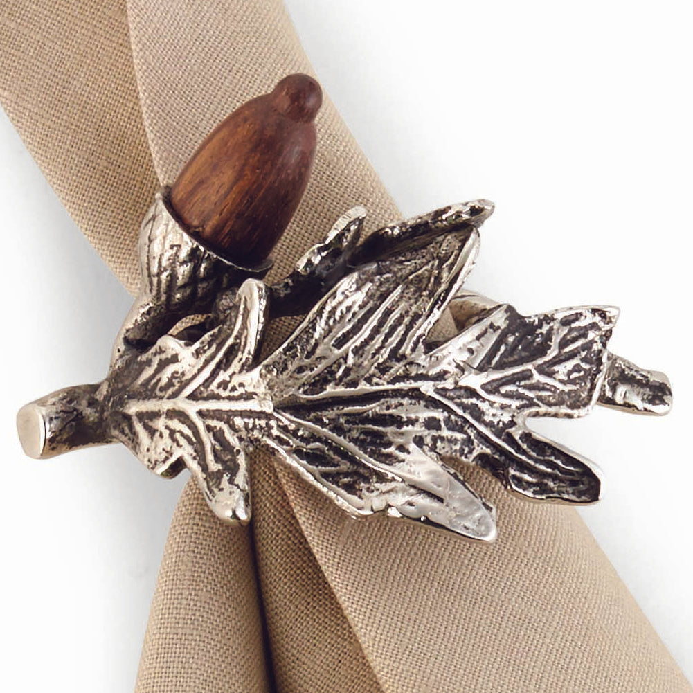 Acorn & Oak Leaf Napkin Rings