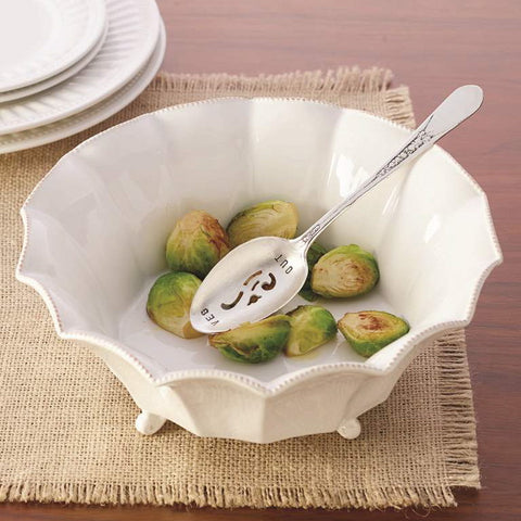 """Veg Out"" Serving Bowl with Spoon-Serving Pieces-MP-Mud Pie-Putti Fine Furnishings"