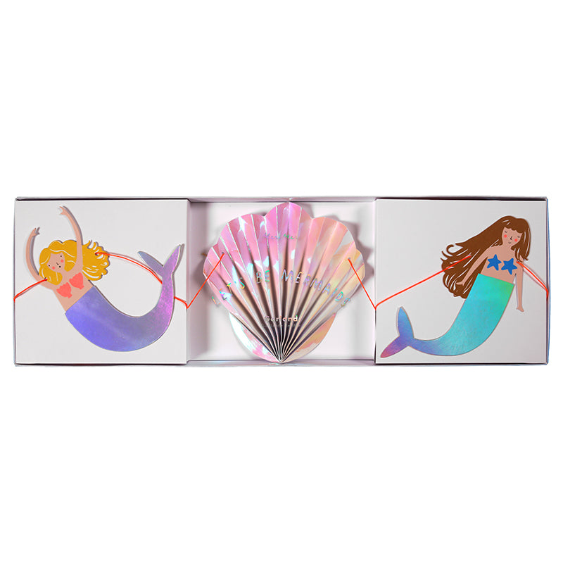 "Meri Meri ""Let's be Mermaids"" Garland -  Party Supplies - MM-Meri Meri UK - Putti Fine Furnishings Toronto Canada - 1"
