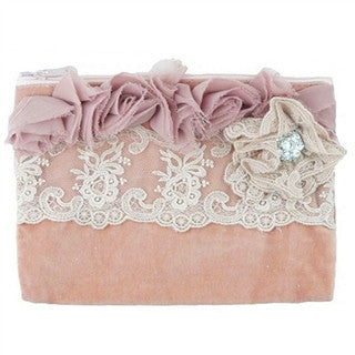 Miss Rose Sister Violet Velvet Rose Zippered Bag - Large, MRSV-Miss Rose Sister Violet, Putti Fine Furnishings