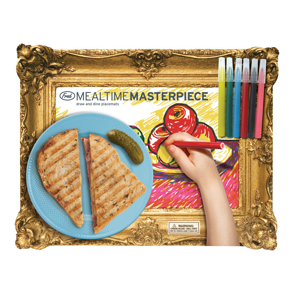 """Mealtime Masterpieces"" Draw and Dine Placemats, Fred & Friends, Putti Fine Furnishings"