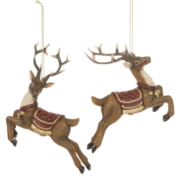 Reindeer with Saddle Ornament | Putti Christmas Celebrations CanadaReindeer with Saddle Ornament | Putti Christmas Celebrations Canada