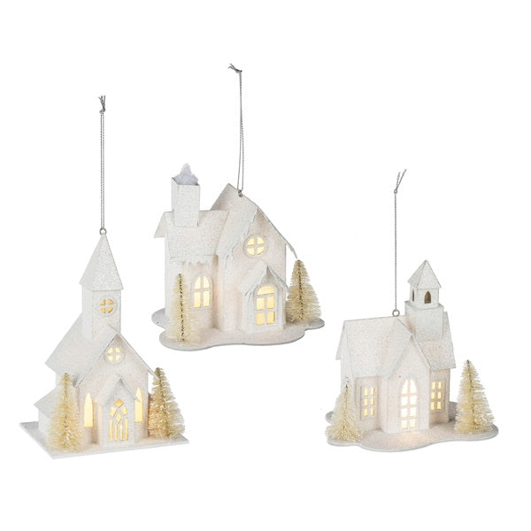 Lighted LED Church Ornament | Putti Celebrations Canada