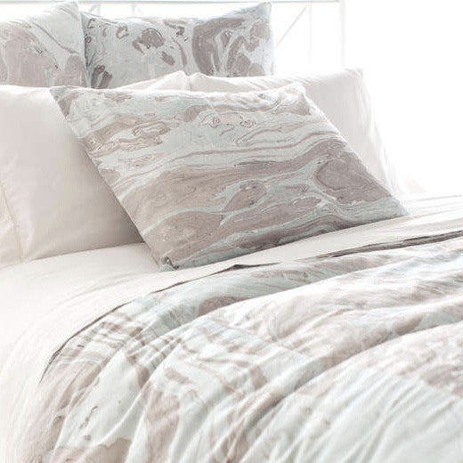Marble Pattern Bedding - Sky Blue-Bedding-PCH-Pine Cone Hill-Queen Duvet-Putti Fine Furnishings
