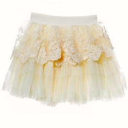 Miss Rose Sister Violet Layered Lace Cream Tutu -  Children's Clothing - Miss Rose Sister Violet - Putti Fine Furnishings Toronto Canada