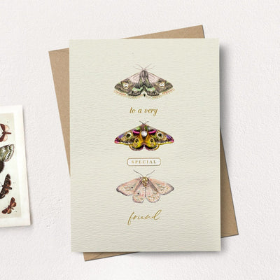 """To a very special friend"" Moths Greeting Card"