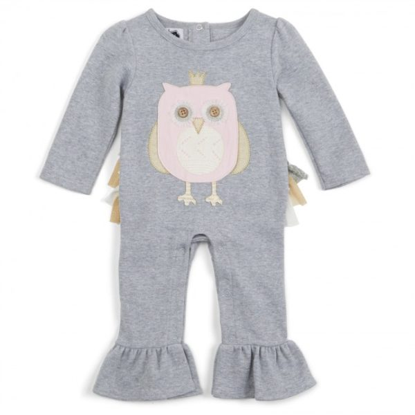Mud Pie Ruffle Owl One Piece
