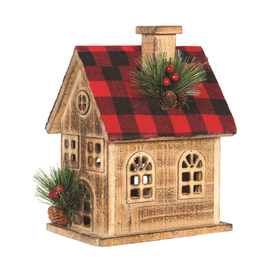 Buffalo Check Wooden House
