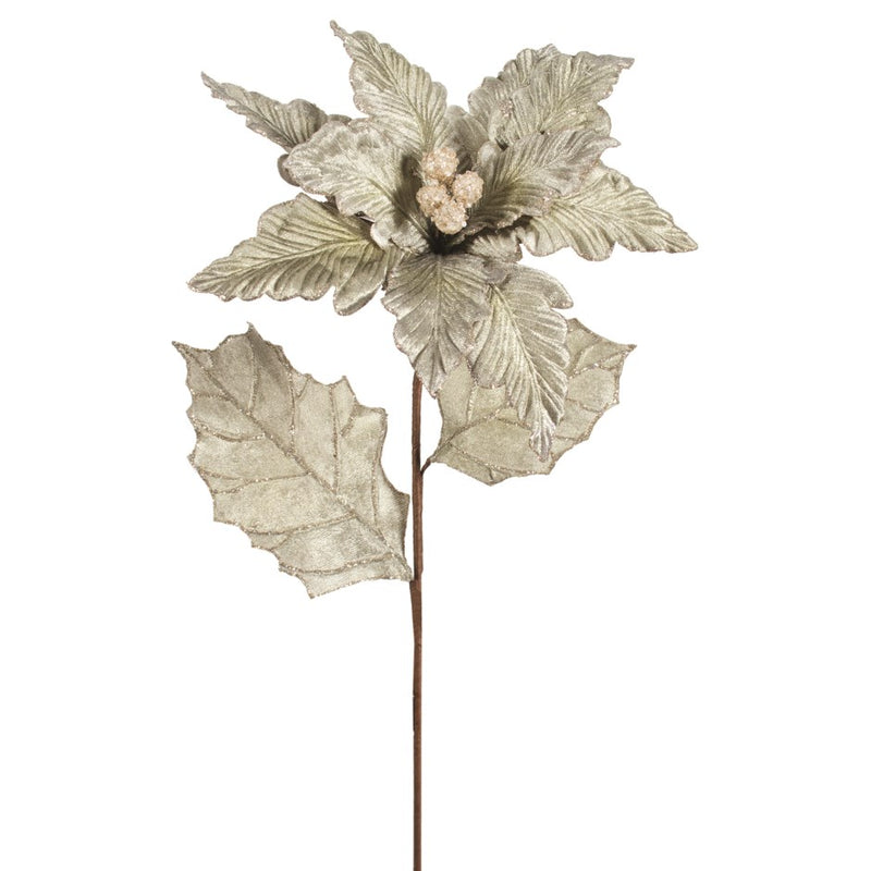 Sage Green Poinsettia Stem | Putti Christmas Cannada