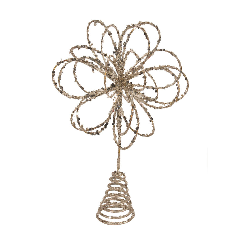 Champagne Christmas Tree Topper
