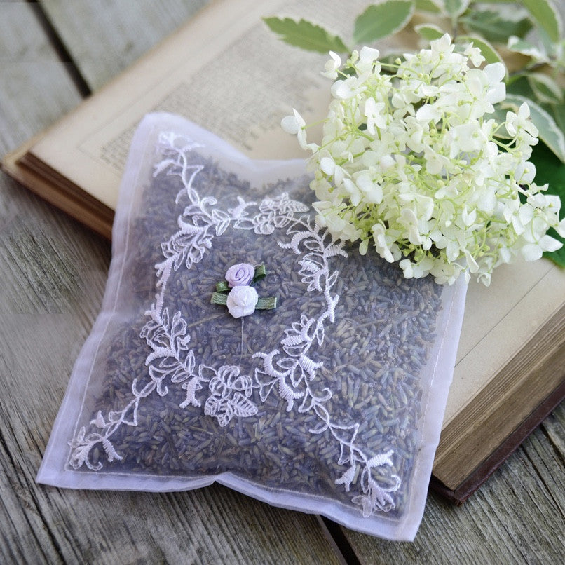Voile Embroidered Lavender Sachet -  Sachet - Powell Craft Uk - Putti Fine Furnishings Toronto Canada - 3