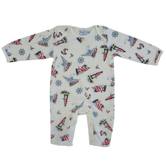 Nautical Jumpsuit-Children's Clothing-PC-Powell Craft Uk-0 to 6 month-Putti Fine Furnishings