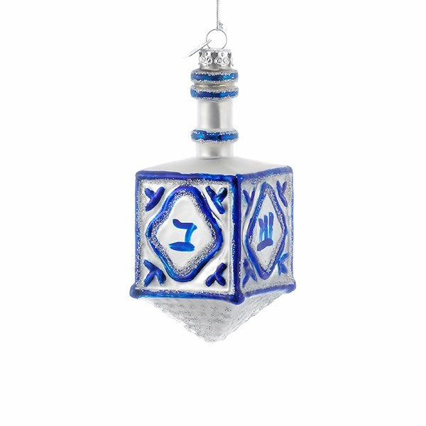 Noble Gems Hanukkah Dreidel Glass Ornament | Putti Christmas