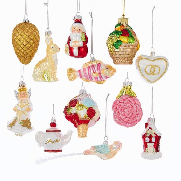Noble Gems Wedding Ornaments 12pc set