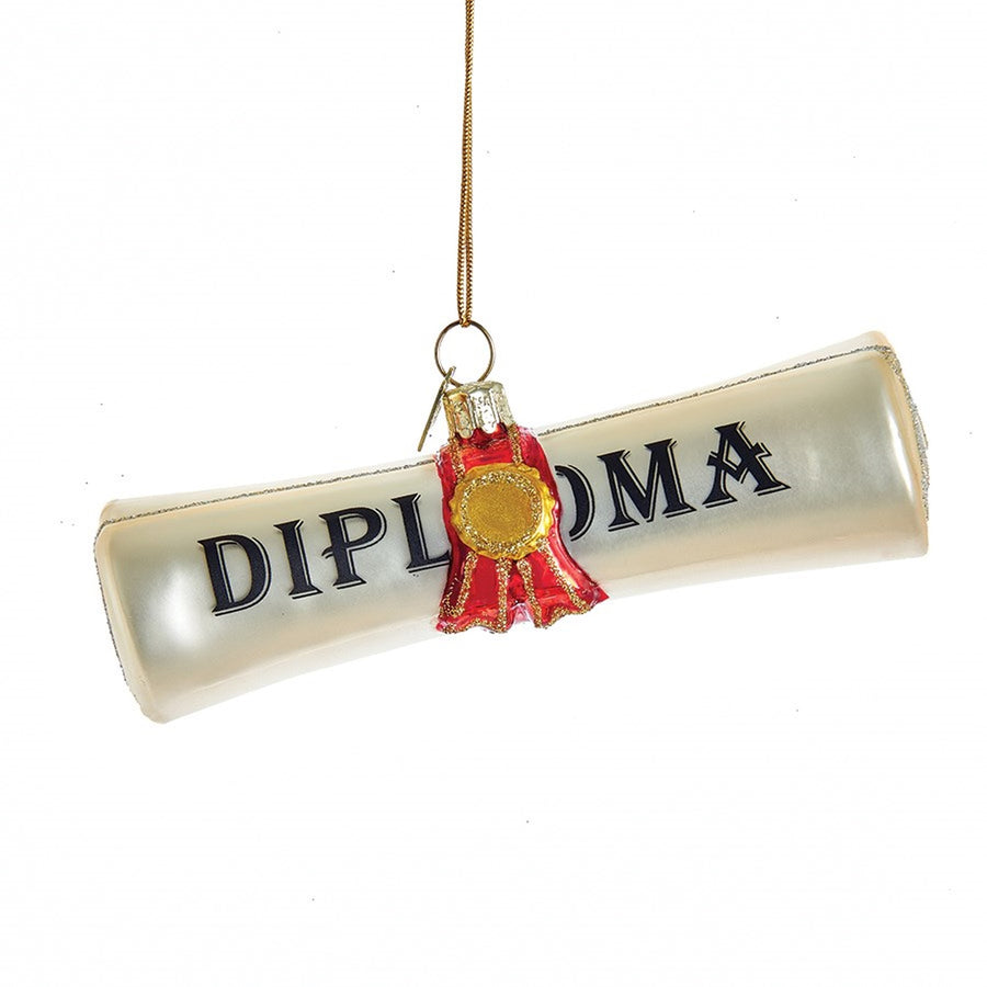Kurt Adler Glass Diploma Ornament