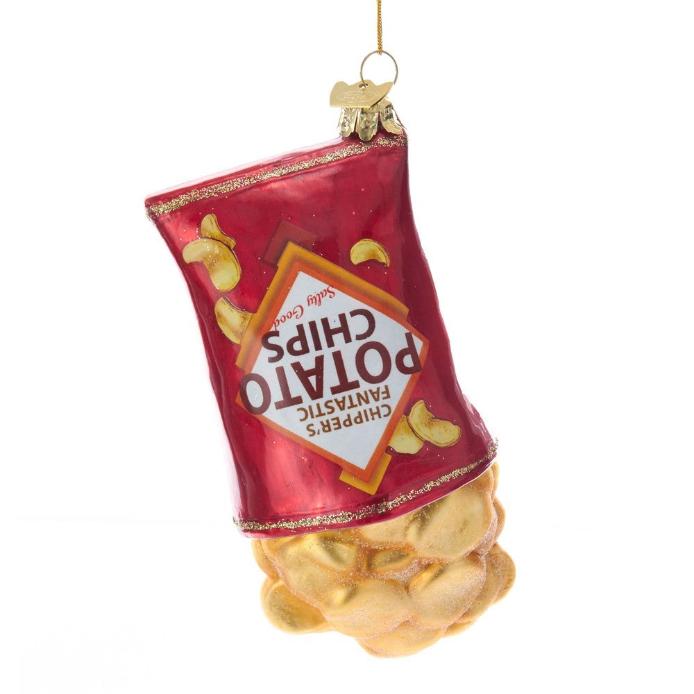 Kurt Adler Potato Chips Glass Ornament | Putti Christmas Decorations