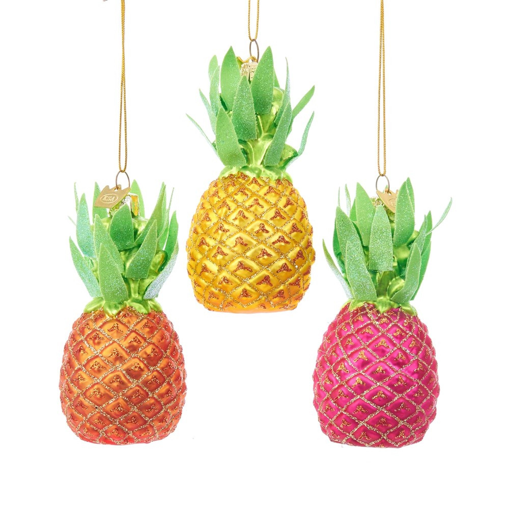 Kurt Adler Noble Gems Glass Pineapple Ornament
