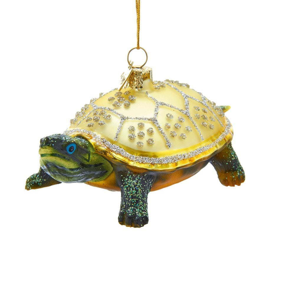 Kurt Adler Land Turtle Glass Ornament | Putti Christmas Canada