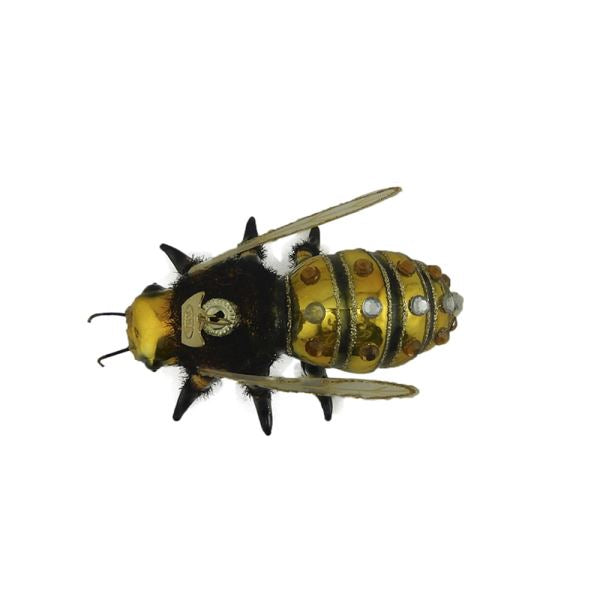 Kurt Adler Honey Bee Glass Ornament  | Putti Christmas Decorations