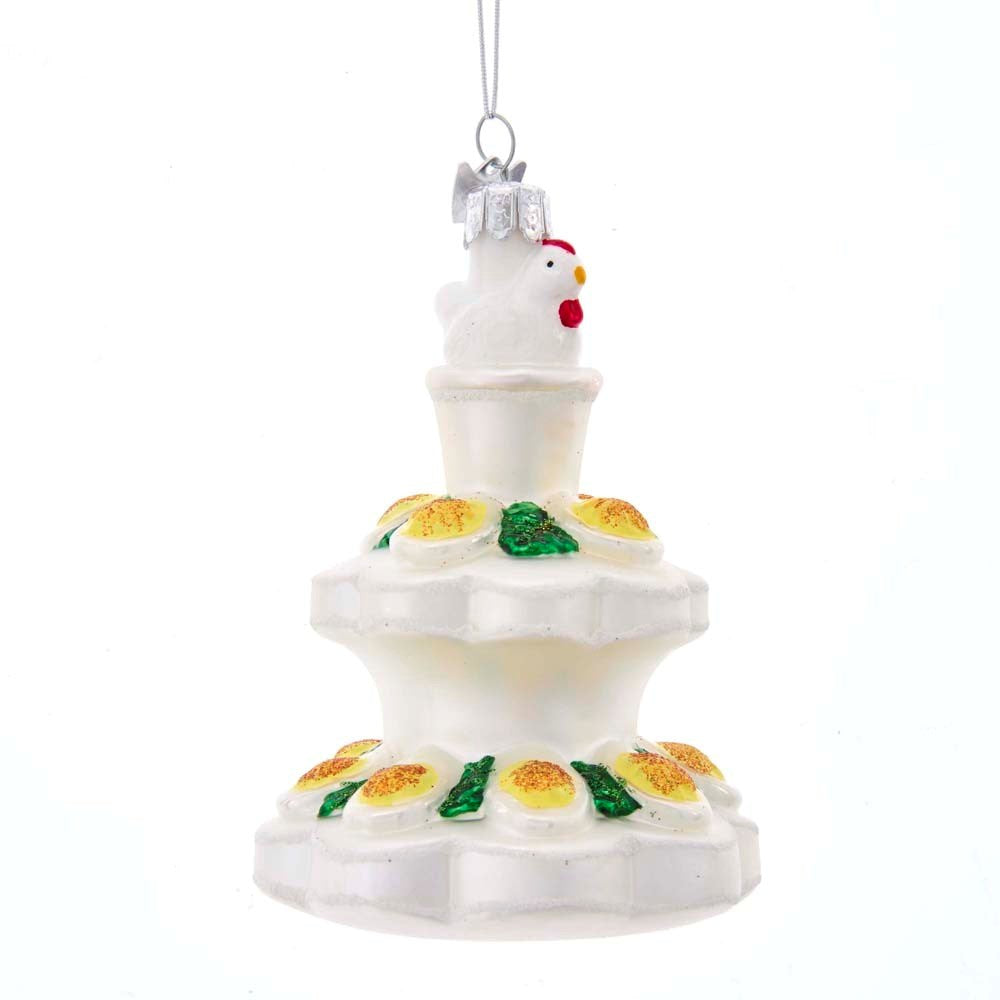 Kurt Adler Devilled Eggs Glass Ornament | Putti Christmas