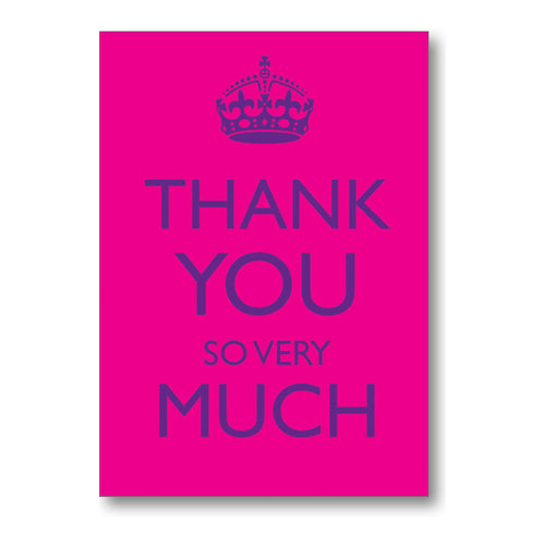 """Thank You So Very Much "" Note Cards"