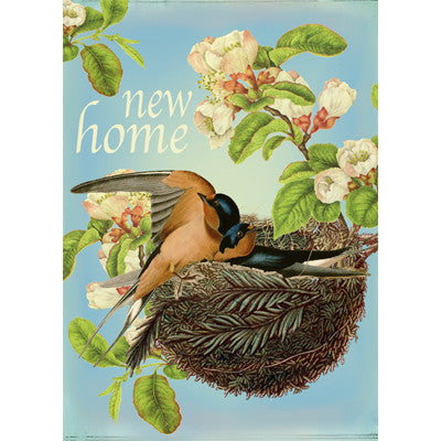 """New Home"" In the Nest Greeting Card"