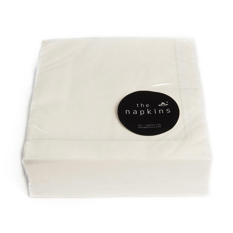 "The Napkins ""Hemstitch"" Entertaining Pack White Grey 
