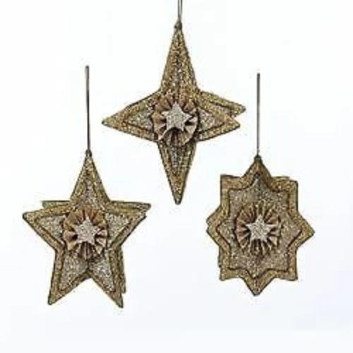 Kurt Adler Gold Glittered Star Ornament