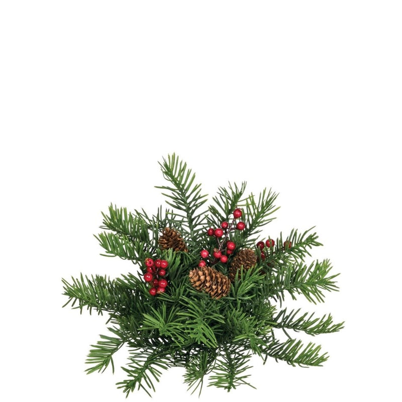 Sullivan's Douglas Pine with Berries Half Orb | Putti Christmas Decoration