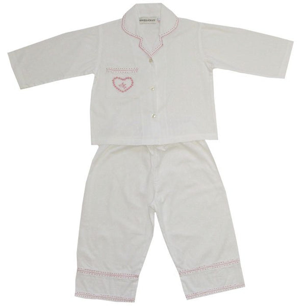 Powell Craft Swiss Dot Pyjamas-Nightwear-PC-Powell Craft Uk-Age 4-5-Putti Fine Furnishings