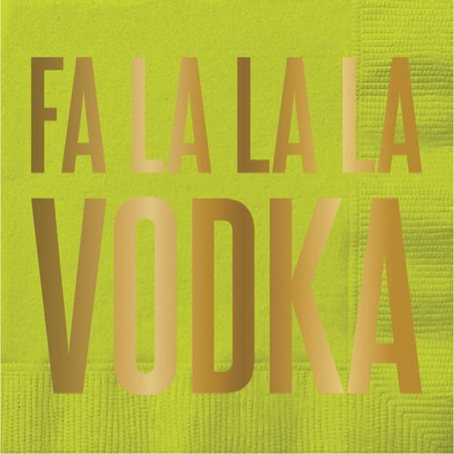 """Fa la la la la Vodka"" Foil Paper Cocktail Napkin"