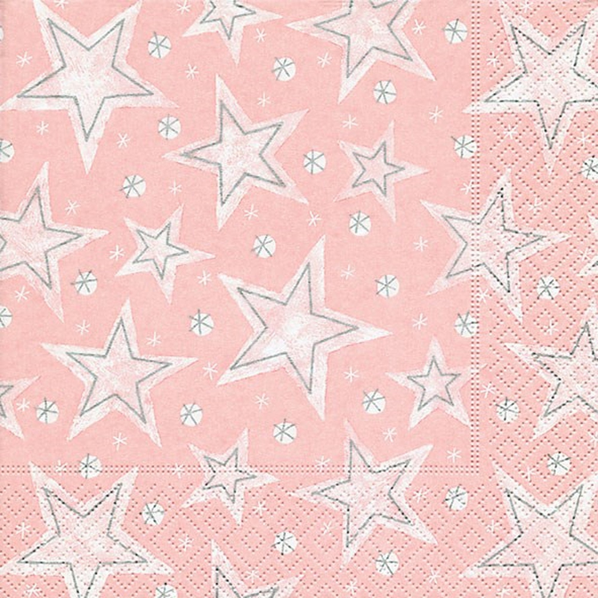 """Stellar Dust Rosé"" Paper Napkins - Lunch"