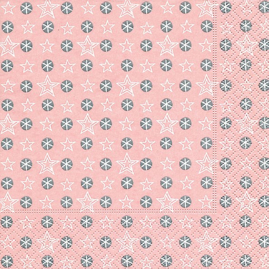 """Little stars rosé"" Paper Napkins - Lunch - Le Petite Putti Party Canada"