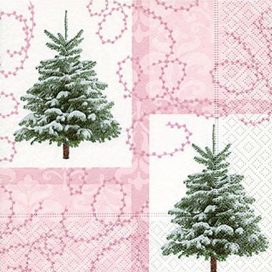 """Hidden Christmas Trees"" Paper Napkins - Lunch"