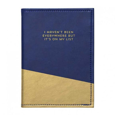 """I haven't been everywhere ..."" Passport Holder, CRG-CR Gibson, Putti Fine Furnishings"