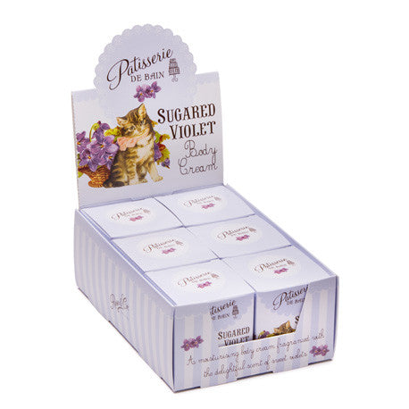 "Patisseries de Bain"" Sugared Violet Body Cream, Rose & Co, Putti Fine Furnishings"