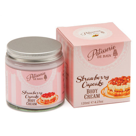 """Patisseries de Bain"" Strawberry Cupcake Body Cream-Bath Products-Rose & Co-Putti Fine Furnishings"