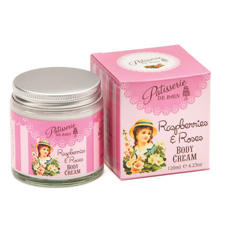 """Patisseries de Bain"" Raspberries and Roses Body Cream-Bath Products-Rose & Co-Putti Fine Furnishings"